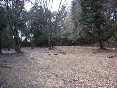 観音寺城本郭部にある、城主六角氏の居館・本丸推定地内の広い平坦地