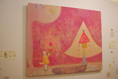 加藤智哉個展「音色のつなぐ部屋」が開かれた京都五条の画廊「GALLERY ANTENNA」に展示された、個人的ベストの大型作品
