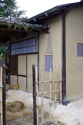 初釜茶会が行われた京都市街東部にある築330年程の国指定文化財の茶室