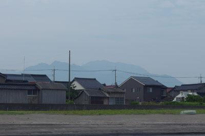 紀行「八橋海岸,八橋からの大山,鳥取藩台場跡,八橋台場基壇?」