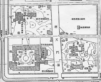 告知「京都市左京区,吉田,岡崎,古図語り,歴史地理学講義,古い地図を使った地元史学習,大正11(1922)年測量,初版京都市都市計画図」