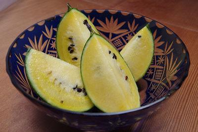 手工「家庭菜園,西瓜,すいか,手作り,黄色,小玉」