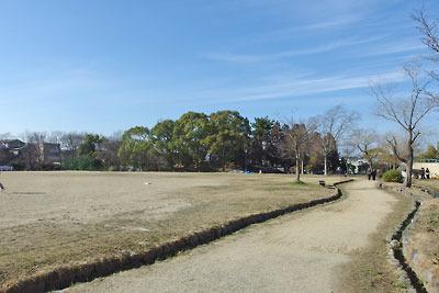 京都市街南部・城南宮近くにある鳥羽離宮跡公園と離宮庭園築山跡の「秋の山」