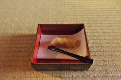 催事(本人)「茶会,茶懐石,縁高・主菓子」