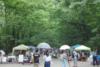 逍遥雑記「下鴨神社,糺の森,森の手づくり市」