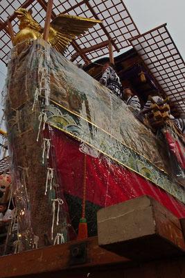 逍遥雑記「祇園祭,宵山,船鉾の舳先」