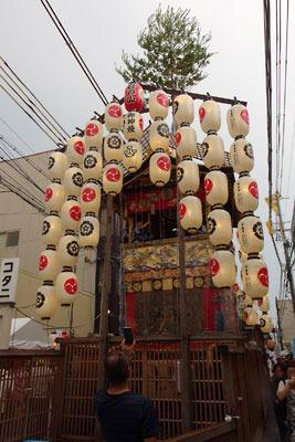 逍遥雑記「祇園祭,宵山,屋根のある「山」、岩戸山」