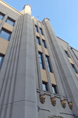 写真家ロバート・フランクの「ブックス アンド フィルムス、1947-2017 神戸展(Robert Frank, Books and Films, 1947-2017 in Kobe))」が開かれていた、神戸三宮の「デザイン・クリエイティブセンター神戸(「KIITO」)」の建屋外観