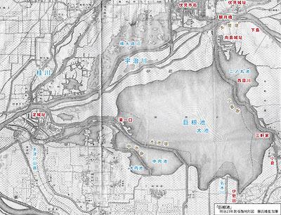 明治中期の図にみる巨椋池