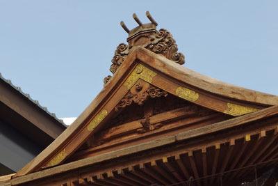 近世作と思しき、福井県勝山の左義長櫓の破風部分
