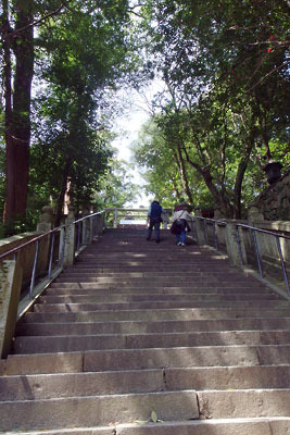 金刀比羅神社本宮前の最後の急段