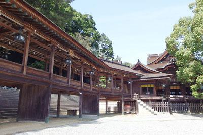 讃岐金刀比羅神社本宮と南渡殿