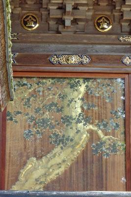金刀比羅神社本宮南側壁の蒔絵