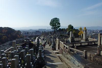 京都・西大谷にある大谷墓地