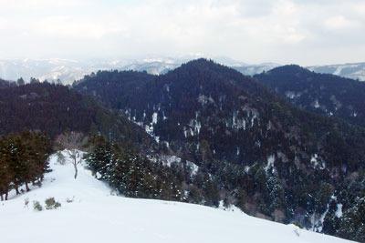 京都・雲取山北峰からの北方の眺め