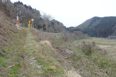 石畳残る夜久野ヶ原東部「面坂」の古い山陰道の跡