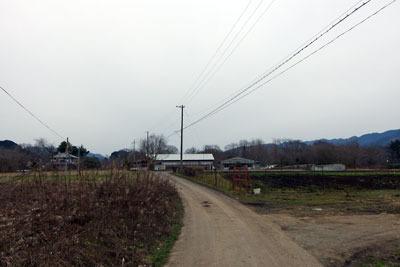 農道化する夜久野台地東部の古山陰道