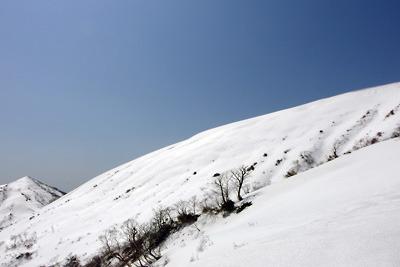 磯倉山頂と能郷山側面