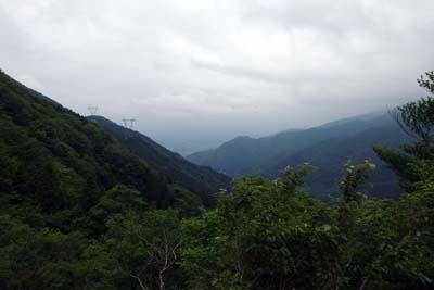 鈴鹿山脈の鞍掛峠付近より見た三重県員弁(いなべ)部分の伊勢平野
