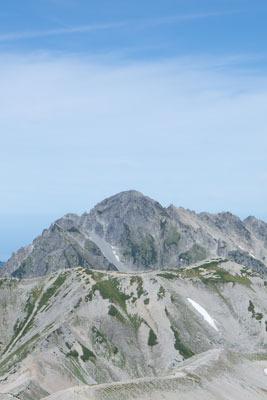 大汝山山頂から見た、正に「岩の殿堂」の姿を見せる剱岳