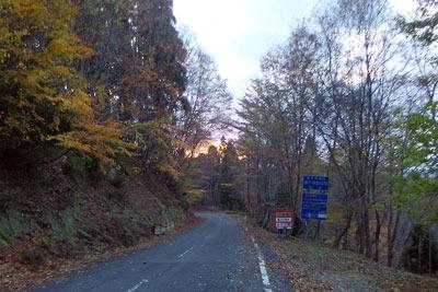 佐々里峠の紅葉夕景