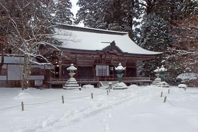 深い雪と静けさに包まれる比叡山延暦寺西塔・浄土院