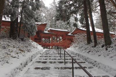 雪に包まれる比叡山延暦寺西塔・常行堂