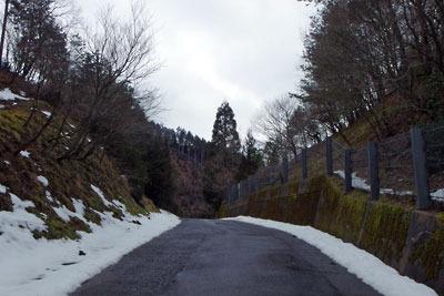 僅か3日で多くの雪が消えた2月半ばの芹生峠