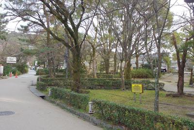 閑散とする京都・円山公園(2020年3月1日)