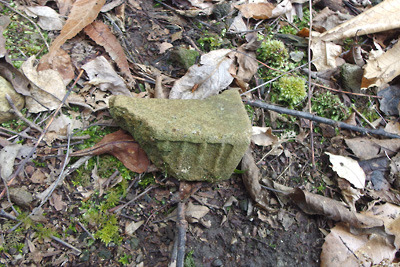 大文字山山中の如意寺宝厳院跡辺りで見た平安後期の軒瓦の破片
