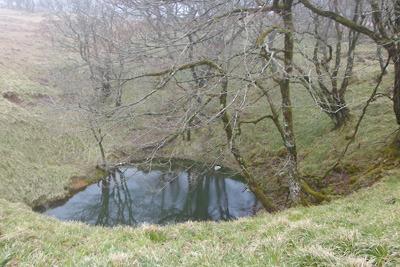 御池岳南方西縁で見た「東池」らしき池