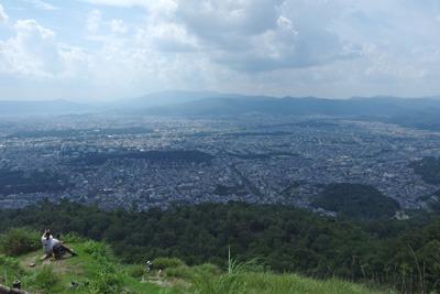 大文字の火床からみた京都市街北部
