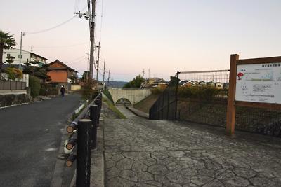 大和郡山城総構の北部にある堀の痕跡