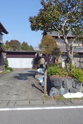 旧中山道沿いにある不破関庁舎跡への入口