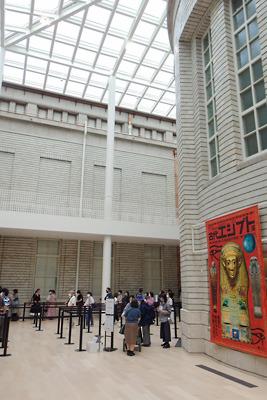 古代エジプト展開催中の京都市美術館(京セラ美術館)の北中庭「光の広間」